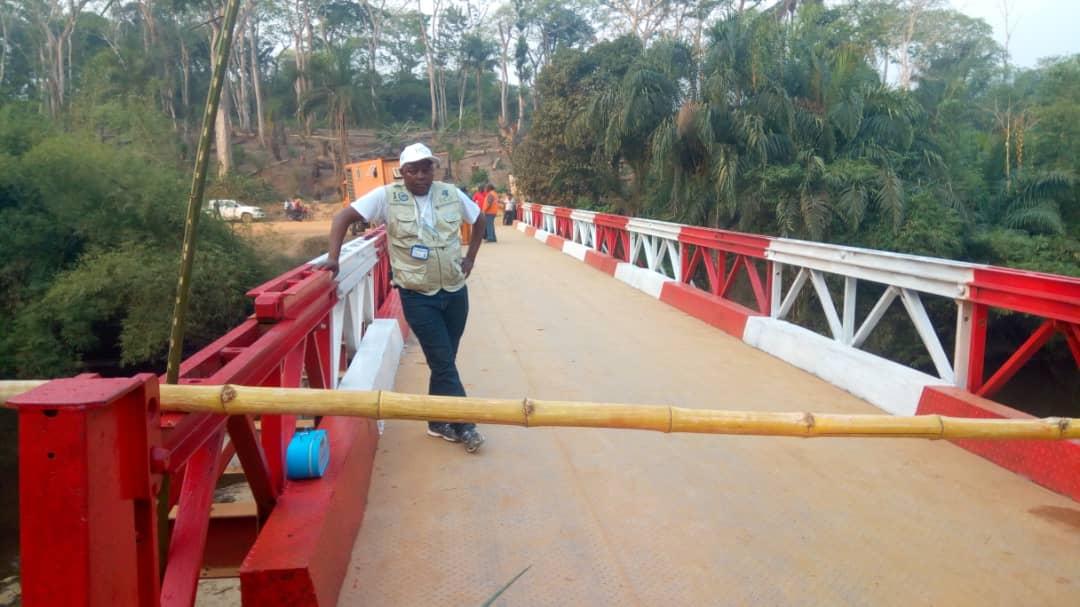 Kasongo : inauguration de deux ponts de 60 tonnes chacun