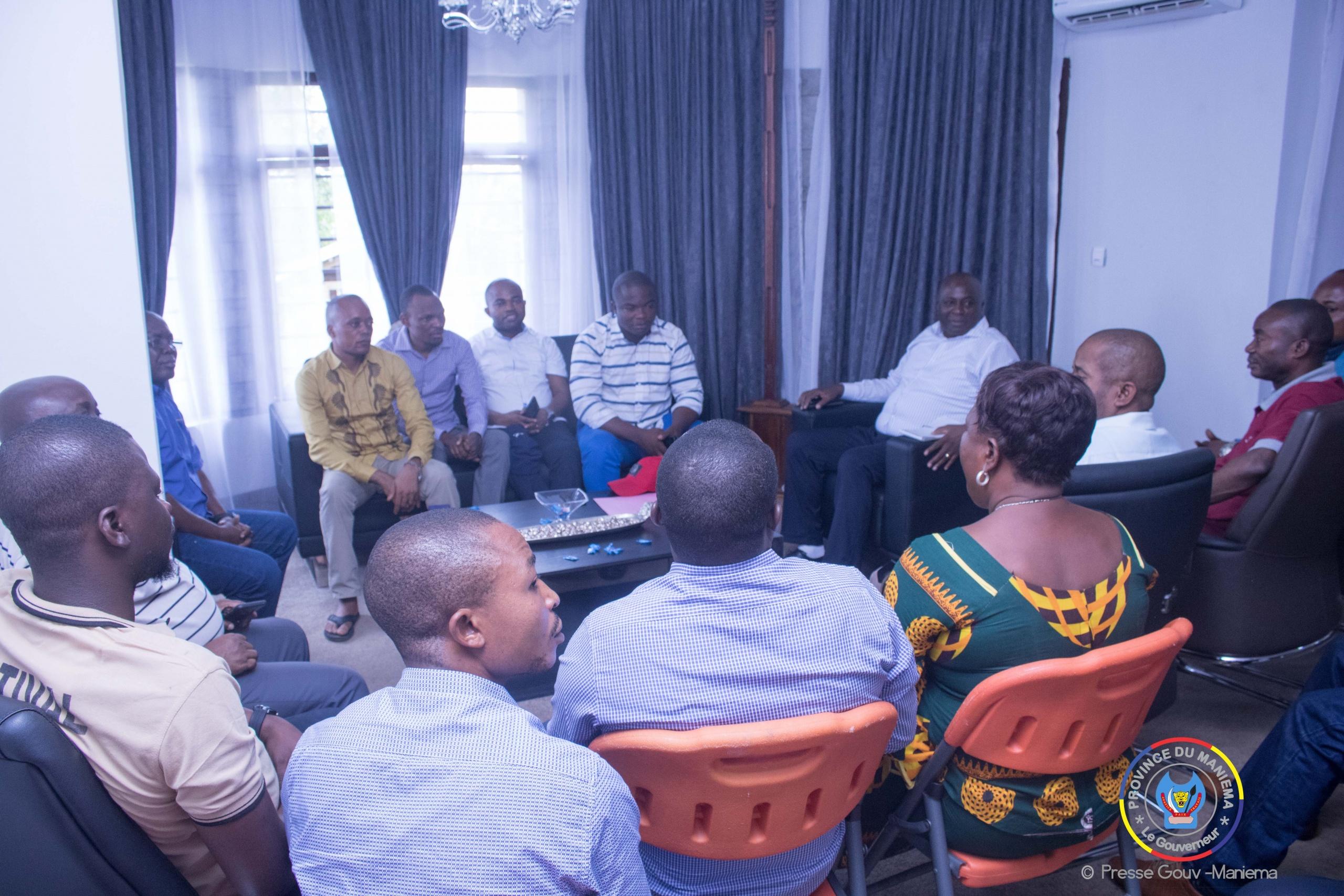 Situation de Kindu : le Gouverneur Musafiri s'entretient avec certains députés dans son cabinet