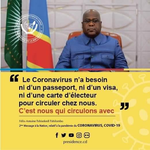 (COVID-19) RDC : le président Félix Tshisekedi décrète l'état d'urgence pour lutter contre la pandémie