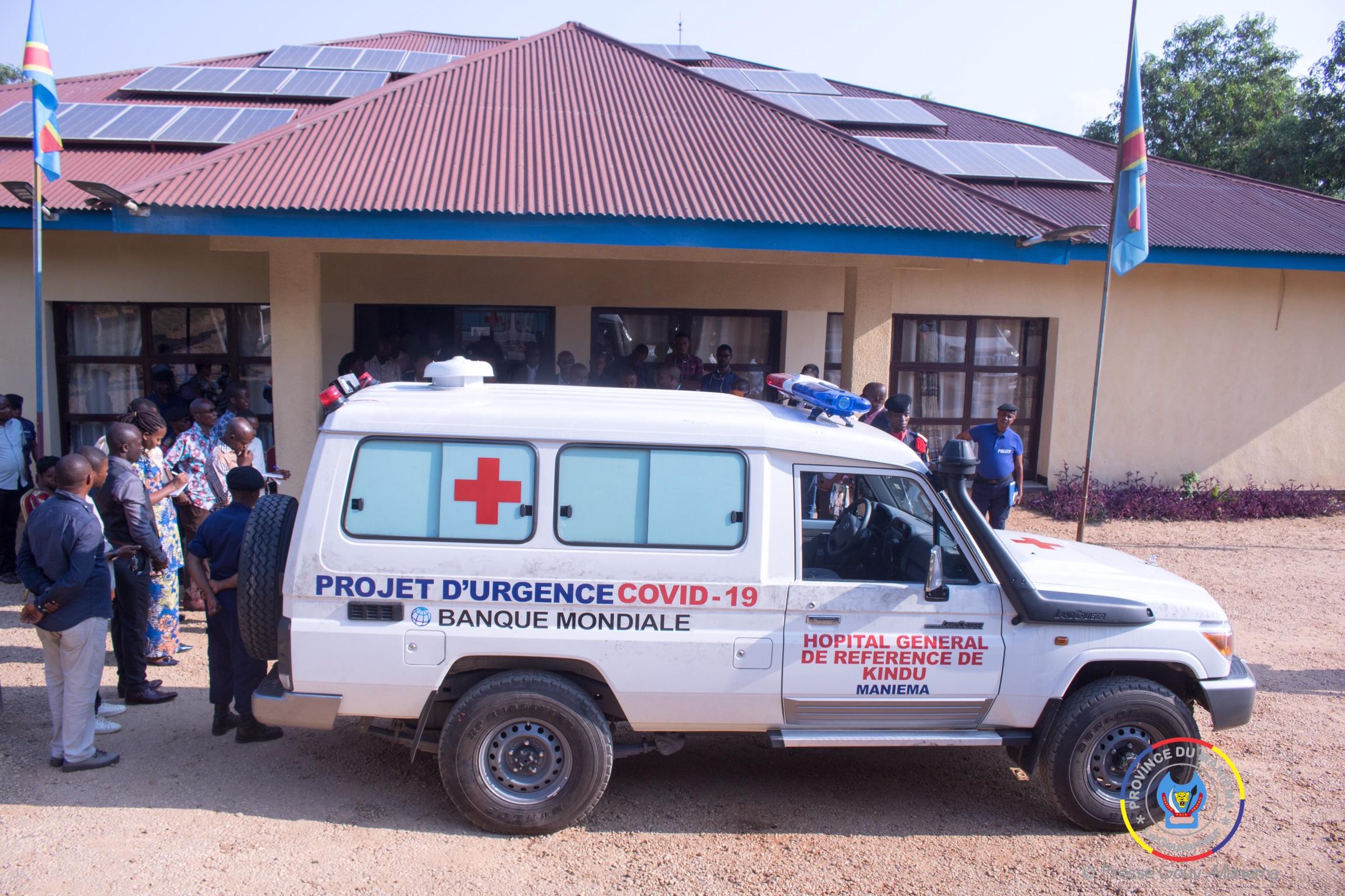Coronavirus : une ambulance médicalisée pour l'hôpital général de Kindu