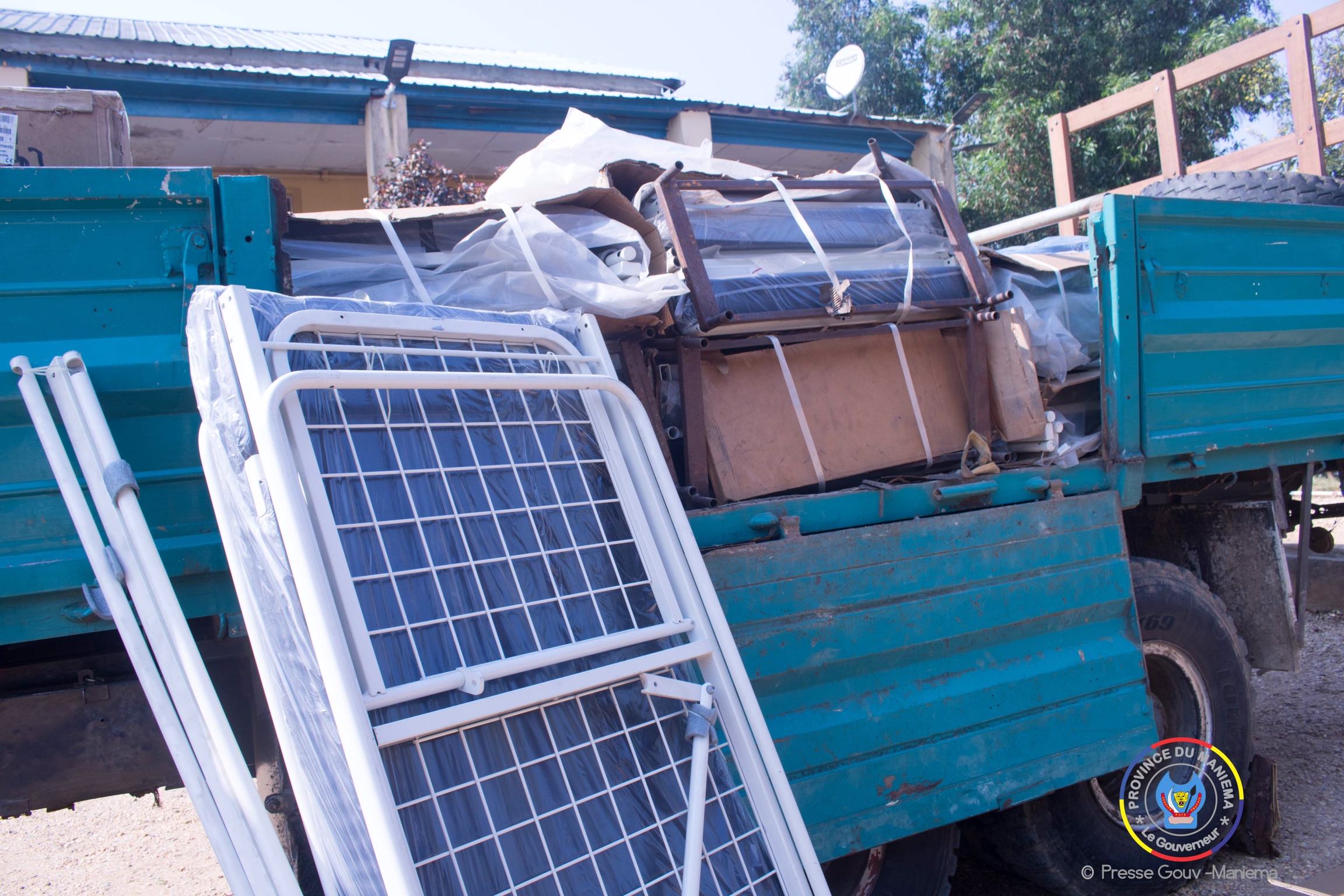 Kibombo : 22 tonnes de matériels pour équiper le Centre de Santé de Référence de Likeri