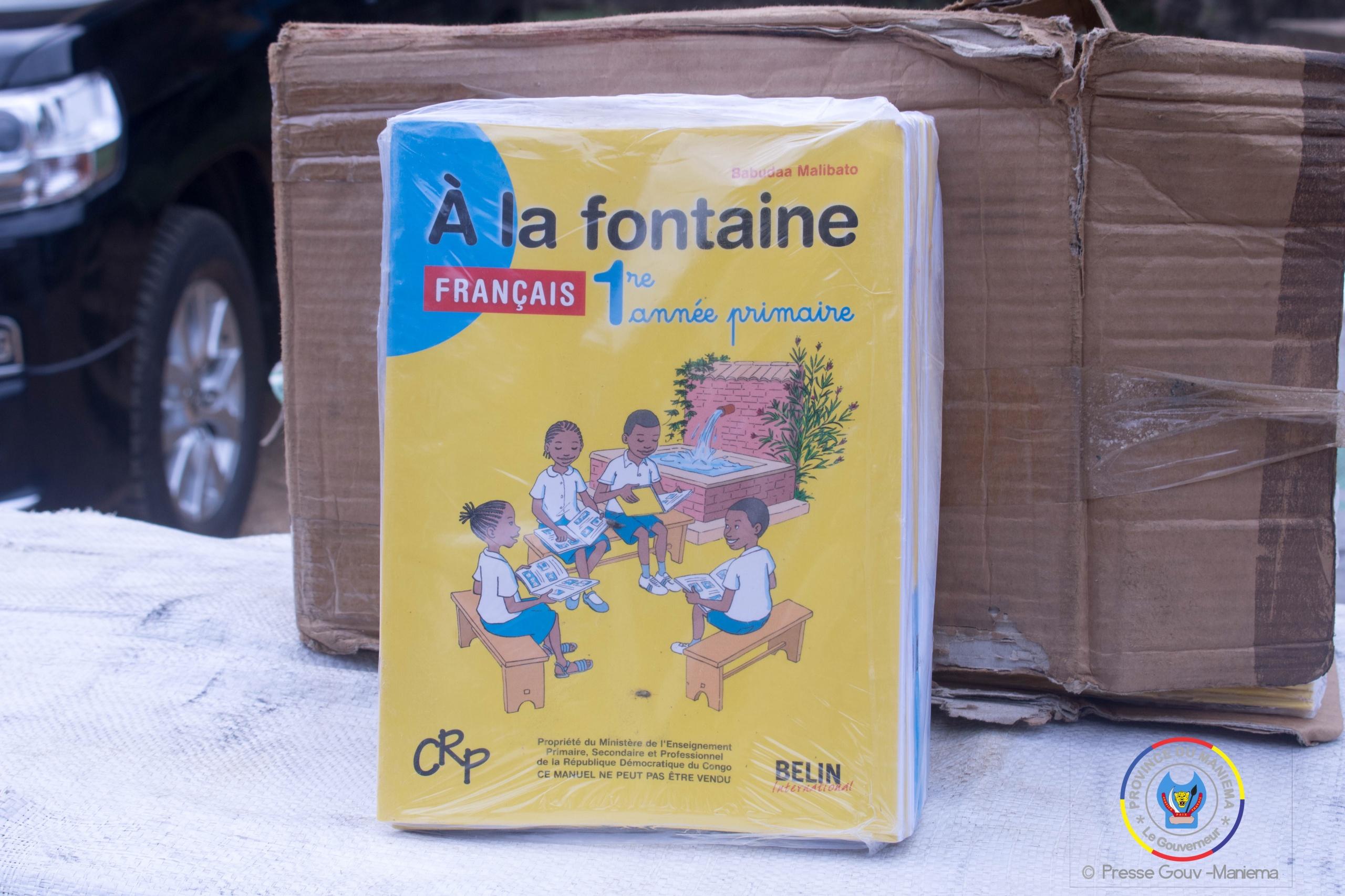 Maniema : 4 tonnes de livres d'enseignement primaire acheminées à Kindu