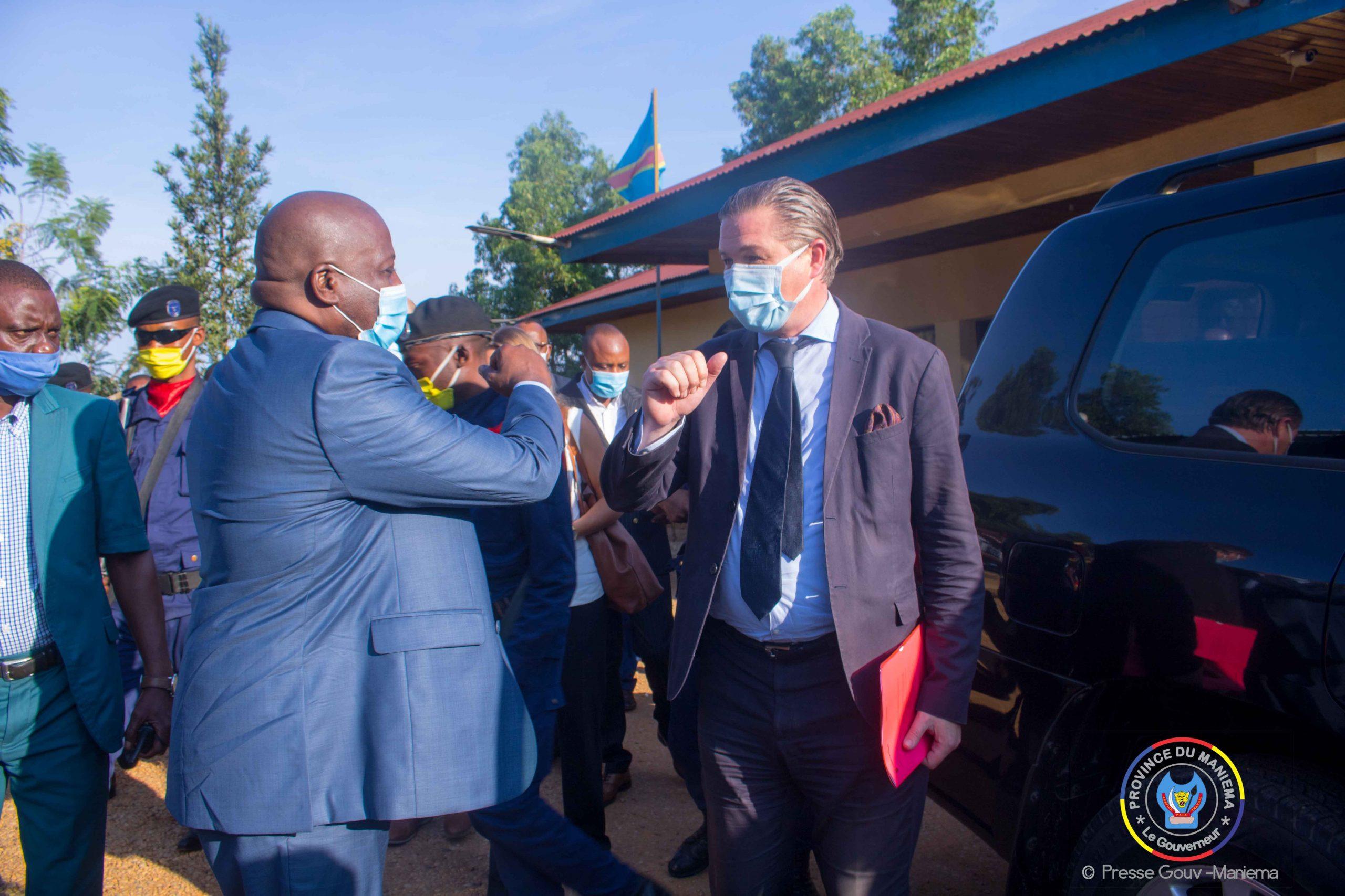 L'Ambassadeur Suédois en RDC, Henric Ras Brant est arrivé à Kindu