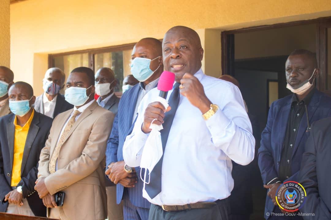 Maniema : Le Gouverneur @AuguyMusafiri déplore la baisse des recettes et la démotivation de son équipe